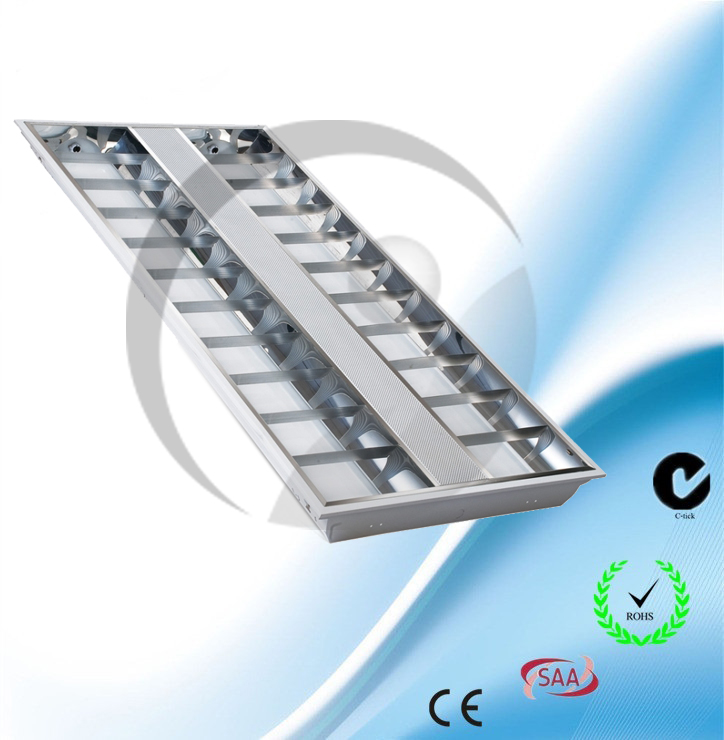 Recessed T5 Grill lighting fitting Double Tubes
